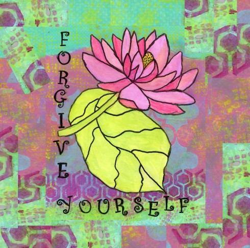 Forgive Yourself, cherilynclough.com, http://www.redbubble.com/people/littlered7/works/14770982-forgive-yourself-healing-flowers?c=540575-healing-flowers