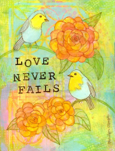 Love Birds, CherilynClough.com,http://www.redbubble.com/people/littlered7/works/20754218-love-never-fails