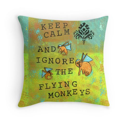 Keep Calm Flying Monkey Pillow, cherilynclough.com, http://www.redbubble.com/people/littlered7/works/13577010-keep-calm-and-ignore-the-flying-monkeys?c=543167-flying-monkeys