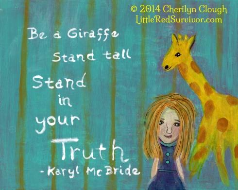 Giraffe Girl, CherilynClough.com LittleRedSurvivor.com