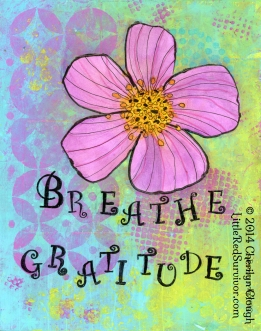 Breathe Gratitude, Little Red Survivor Art