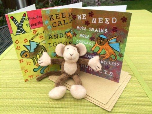 Flying Monkey Cards, Cherilyn Clough, LittleRedSurvivor.com
