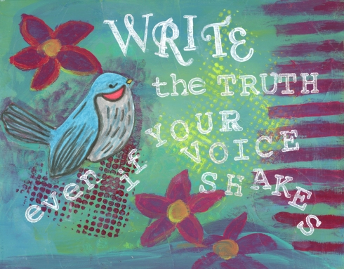 Write the Truth, cherilynclough.com, http://www.redbubble.com/people/littlered7/works/14021907-write-the-truth?c=540742-survive-to-thrive