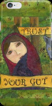 Trust Your Gut Phone Case, Little Red Survivor Art, Cherilyn Clough