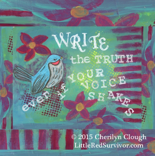 Write the Truth, Little Red Survivor Art, Cherilyn Clough
