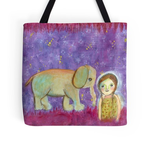 Elephant Girl Tote, Cherilyn Clough, LittleRedSurvivor.com