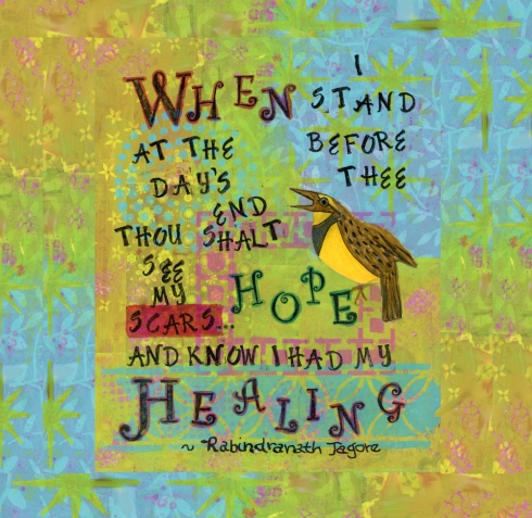 Tagore Healing Print, Cherilyn Clough, LittleRedSurvivor.com
