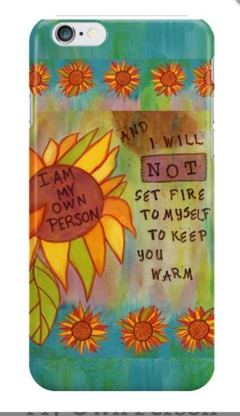 My Own Person Phone Case, CherilynClough.com, LittleRedSurvivor.com