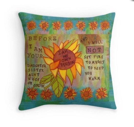 My Own Person Pillow, cherilynclough.com, LittleRedSurvivor.com