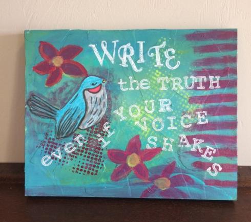 Write the Truth Original Art, CherilynClough.com,www.etsy.com/shop/LittleRedSurvivorArt