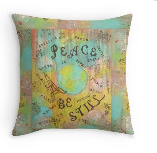 Peace Pillow, www.etsy.com/shop/LittleRedSurvivorArt, cherilynclough.com
