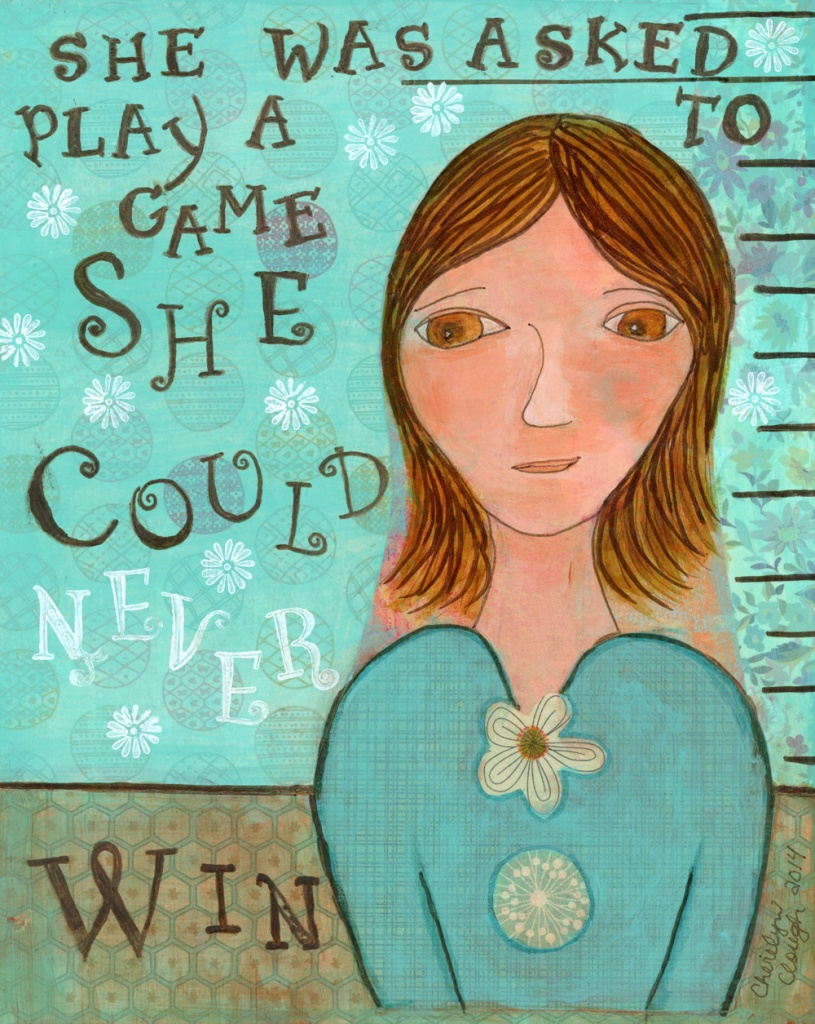 Survivor Girl, Game She Could Never Win,CherilynClough.com, www.etsy.com/shop/LittleRedSurvivorArt