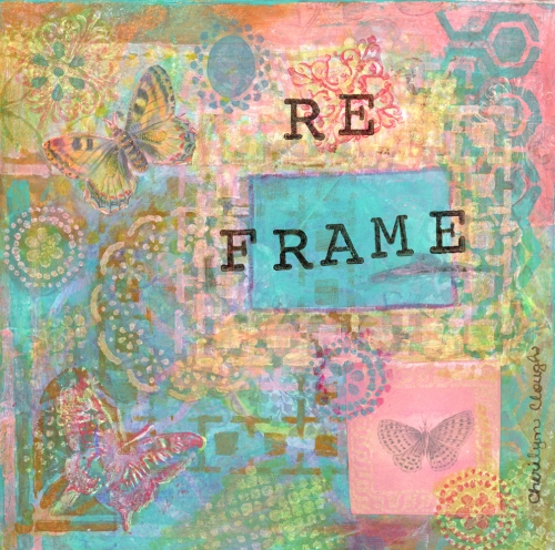 Reframe Butterfly, CherilynClough.com, http://www.redbubble.com/people/littlered7/works/21112144-butterfly-reframe