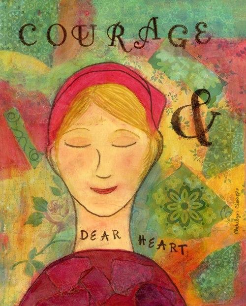 Courage Survivor Girl Print, CherilynClough.com, Little Red Survivor Art