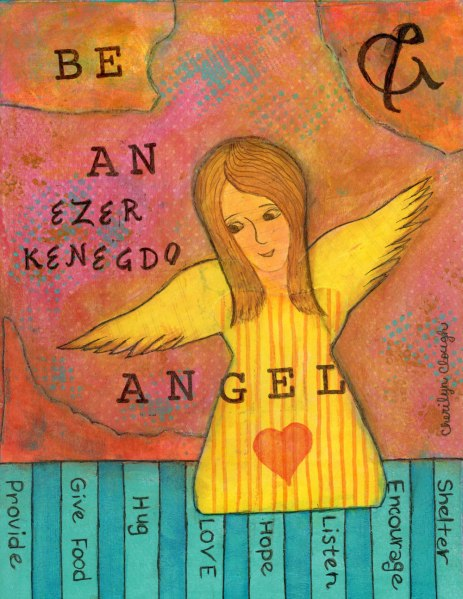 Ezer Angel, cherilynclough.com, http://www.redbubble.com/people/littlered7/works/23882013-ezer-kenegdo-angel