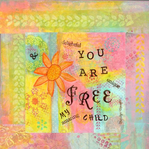Free My Child, cherilynclough.com, https://www.redbubble.com/people/littlered7/works/21361138-you-are-free?asc=u&c=317908-affirmations-from-abba