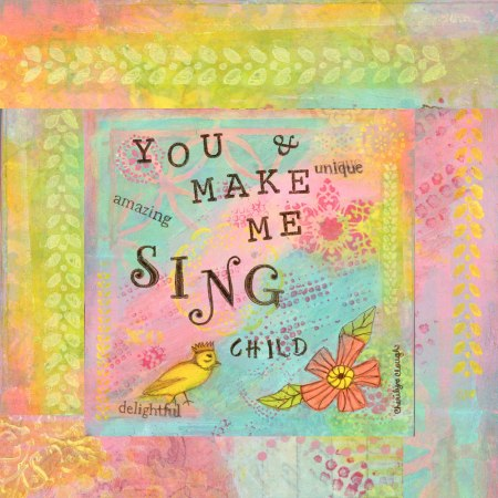 You Make My Heart Sing Child, cherilynclough.com, https://www.redbubble.com/people/littlered7/works/22115933-you-make-my-heart-sing?asc=u&c=317908-affirmations-from-abba